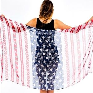 Accessories - American Flag scarf - perfect for stagecoach!